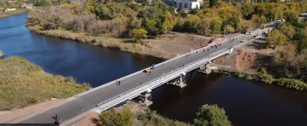 До открытия главного моста Славянска осталось 10 дней