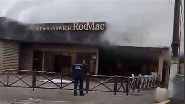 Сегодня в Святогорске горело кафе быстрого питания