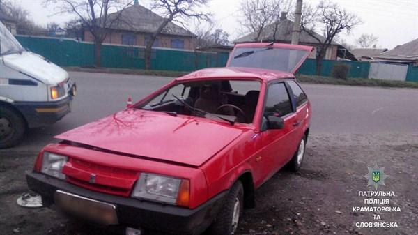 В Славянске земля-матушка остановила водителя восьмерки, который рассекал по городу под  амфетамином