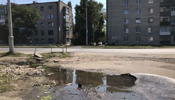 На Вокзальной в Славянске наконец ликвидирован порыв водопровода