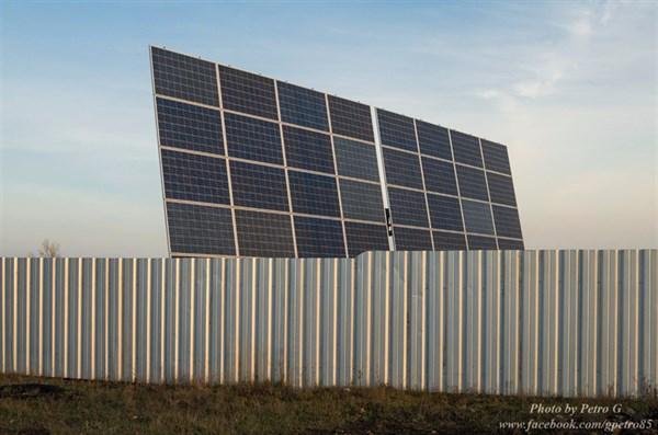На Черевковке появилась солнечная панель, а на Былбасовке целая станция с подвижным трекером (ФОТОФАКТ)