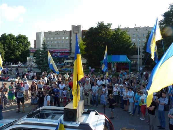 Участники вече в Славянске объявили  акцию под названием «Стоп тарифному террору»
