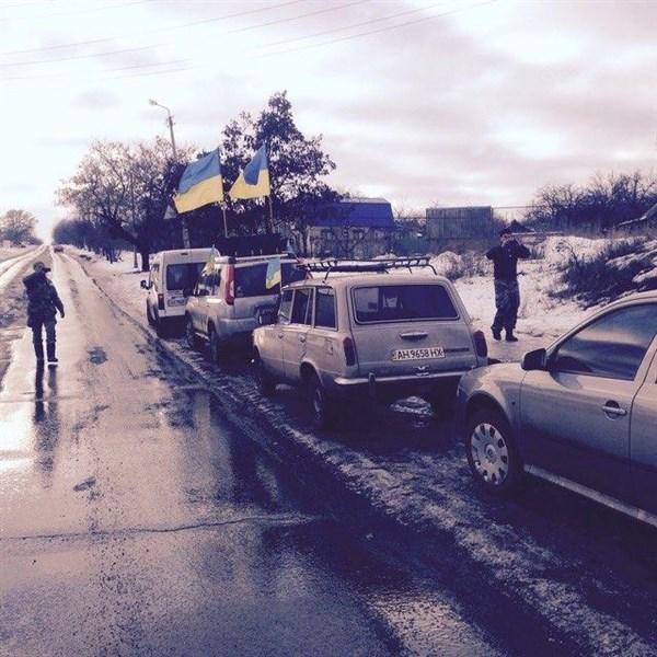 Славянские активисты побывали в Бахмуте, чтобы поддержать участников железнодорожной блокады