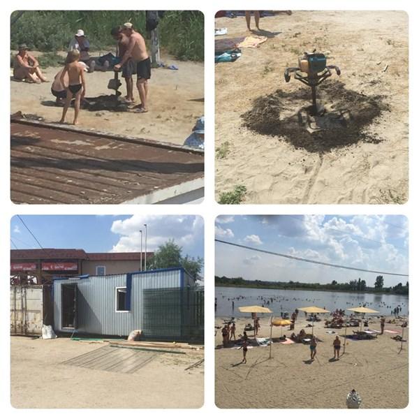 Реконструкция пляжа в разгар купального сезона. Озеро Вейсовое в четырех фото