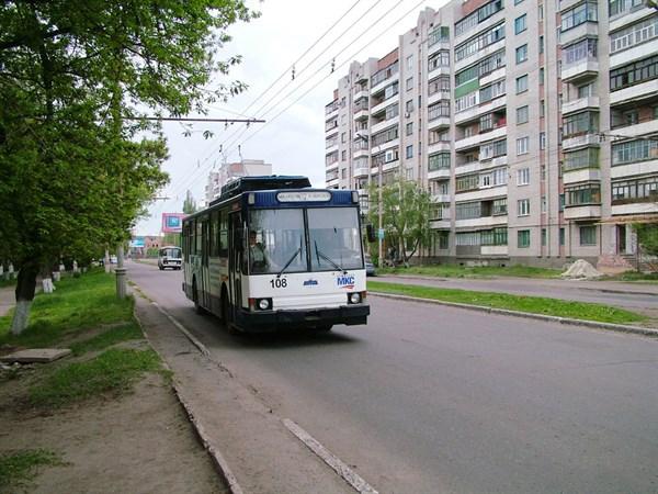 В Славянске троллейбус №7 не будет осуществлять перевозки пока не отремонтируют улицу