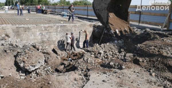 С конца июля начнется бетонирование моста в Славянске