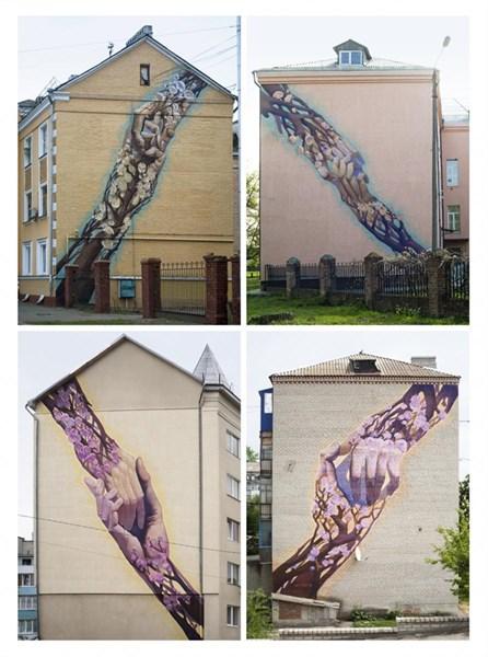 В Славянске появился мурал, который символизирует единство Украины.