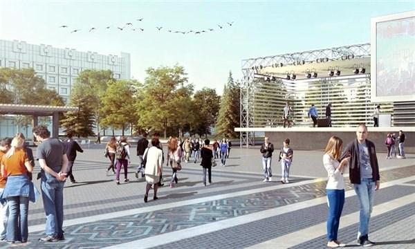 Реконструкция Соборной площади в Славянске переносится на следующий год: как она будет выглядеть – в 5 фотографиях