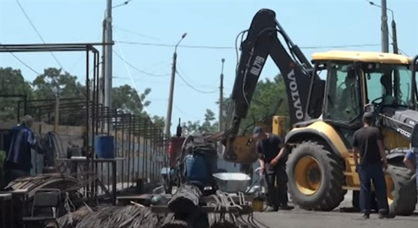 Что сделано по реконструкции моста в Славянске за две недели