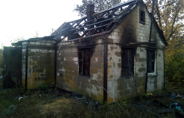 В Славянском районе во время пожара погиб мужчина