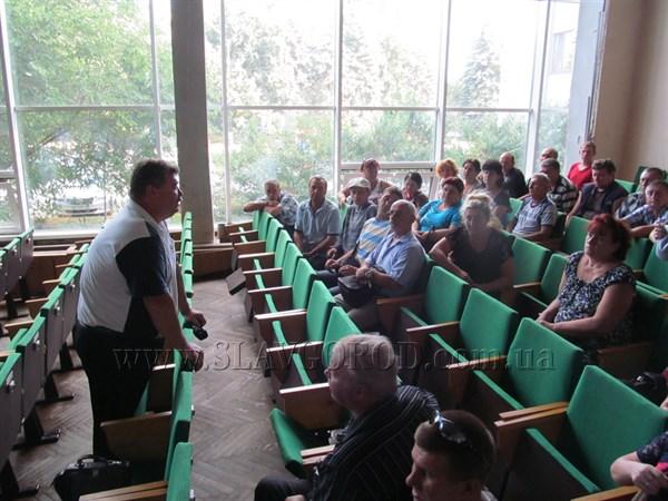 В Славянске работники водоканала пришли «выбивать» долги по зарплате в горсовет