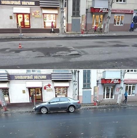 «Интересно, они люк открывали? Вдруг бомжа закатали»: в Славянске опять заасфальтировали канализационные люки на дороге