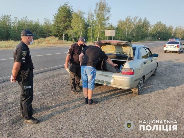Полиция Славянска принимает участие в операции на подъезде к Голубым озерам