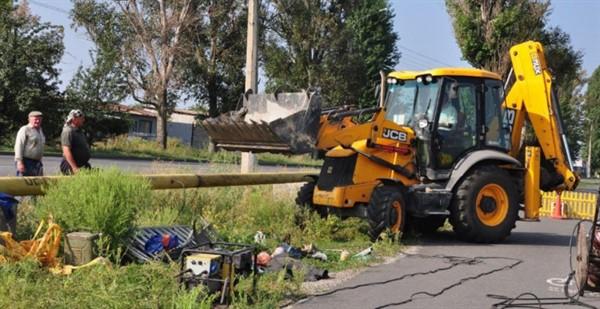 Газовая труба послужила причиной коллапса в микрорайоне Славянска