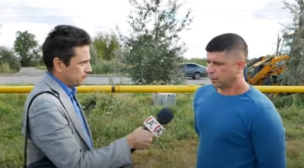 В Славянске продолжаются работы по переносу газовой трубы с берега озера