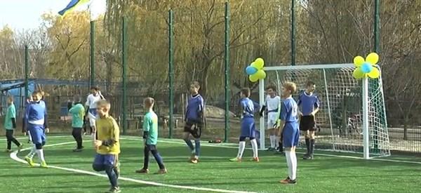 Как в Шелковичном открывали спортивную площадку с искусственным покрытием (видео)
