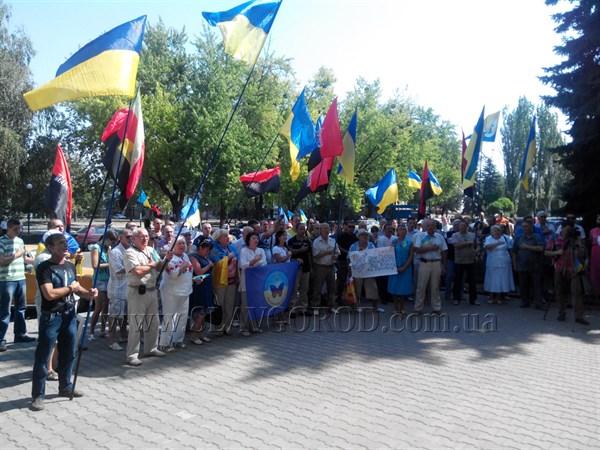 В Краматорске состоялся митинг за отмену предстоящих выборов. В акции приняли участие славянские активисты