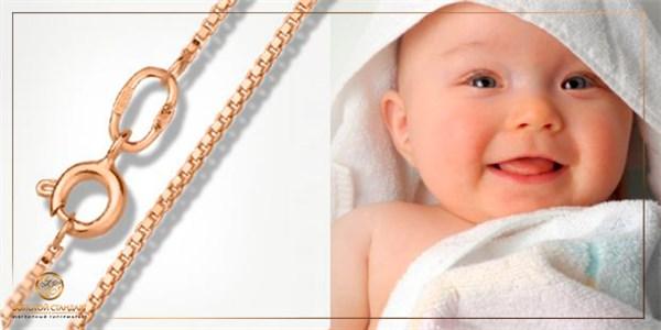 Детская цепочка – первое ювелирное украшение малыша