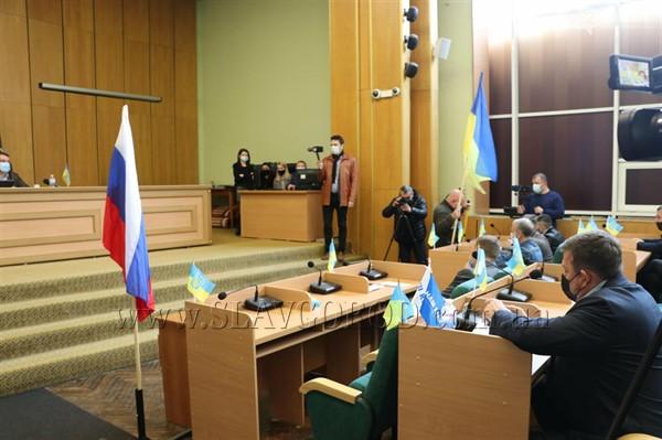 Активист Славянска рассказал о цели акции с российским флагом