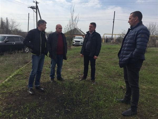 Глава Славянска посетил Былбасовку с рабочей поездкой