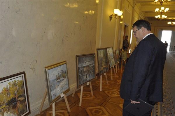 Выставка художника из Славянска экспонировалась в кулуарах Верховной рады