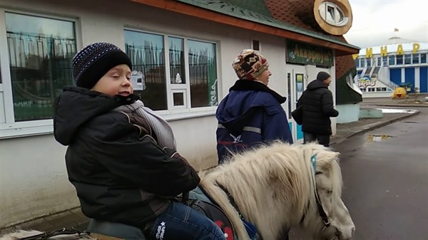 В Славянске во время празднования Дня города пони, испугавшись салюта, сбила с ног 8-летнего ребенка