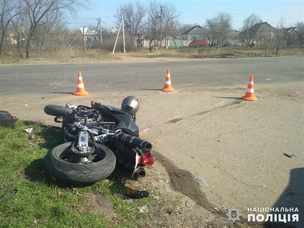 В Славянске ДТП: автомобилист сбит мотоциклиста