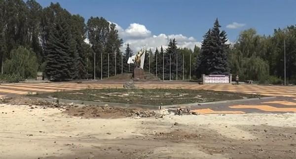 Реконструкция парка «Шовковичний» в Славянске приостановлена. У мэра города спросили, почему