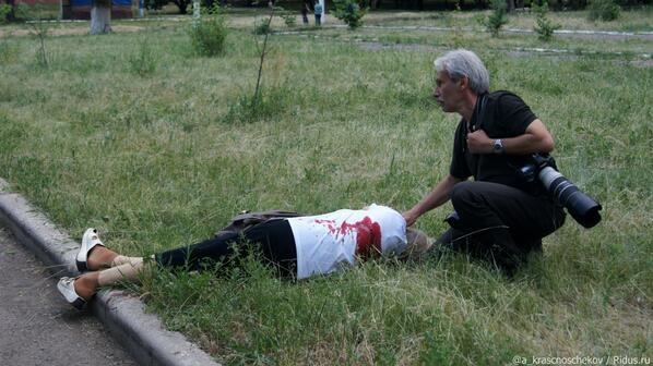 Сегодня, 26 мая, в Славянске был обстрелян жилой квартал микрорайона Артёма. Есть жертвы (Дополнено видео +18)