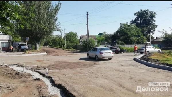 Перекресток на Волжской в Славянске приобретет цивилизованный вид
