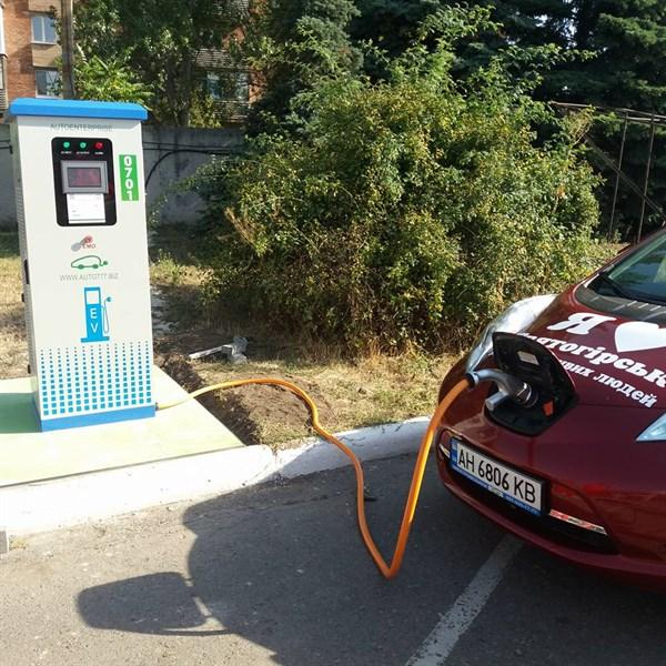 В Славянске появилась первая заправка для электромобилей