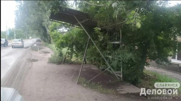 Остановки на объездных автобусных маршрутах Славянска требуют ремонта