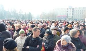 Митинг в Славянке 1 марта 2014 года