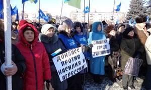 Митинг в Славянске в поддержку Президента Украины