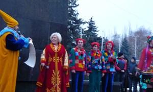 Открытие новогодней ёлки на центральной площади Славянска