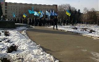 """Общественная организация """"Невідворотність покарання"""" пикетировала Славянский исполком"""